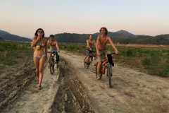 """Exploring the """"Playa"""" on bike - Picture by Armands Strauja"""