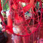 Mandy shows off her Dreamcatcher. Picture by Armands Strauja