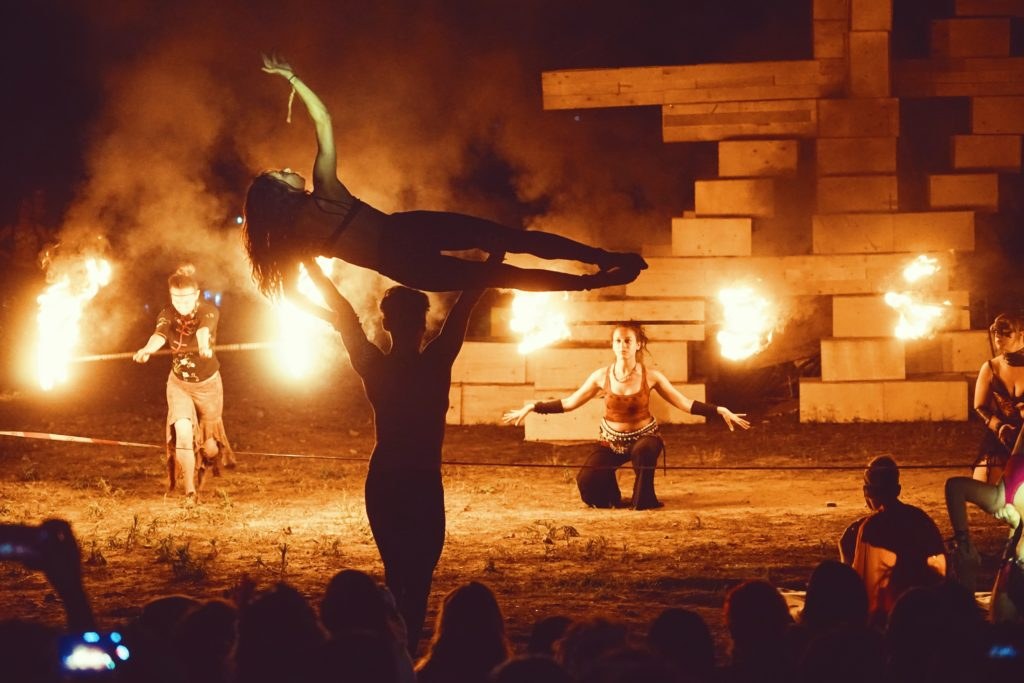 Show at the Effigy Burn - picture by Tutu