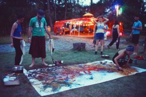 ZhouZhou performs a live painting at Dragon Burn 2016