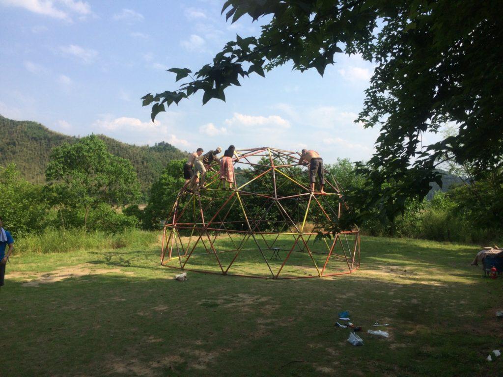 Dome construction, Dragon Burn 2017