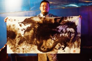 Live painting by Magic Ma, Dragon Burn Decompression