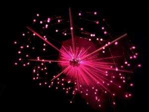 Photon laser art by Mikro, Dragon Burn 2017