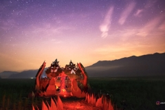 Fire Lotus Temple at dusk - Picture by Antgutz