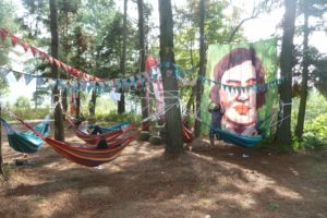 'Hammockville' installation 2015