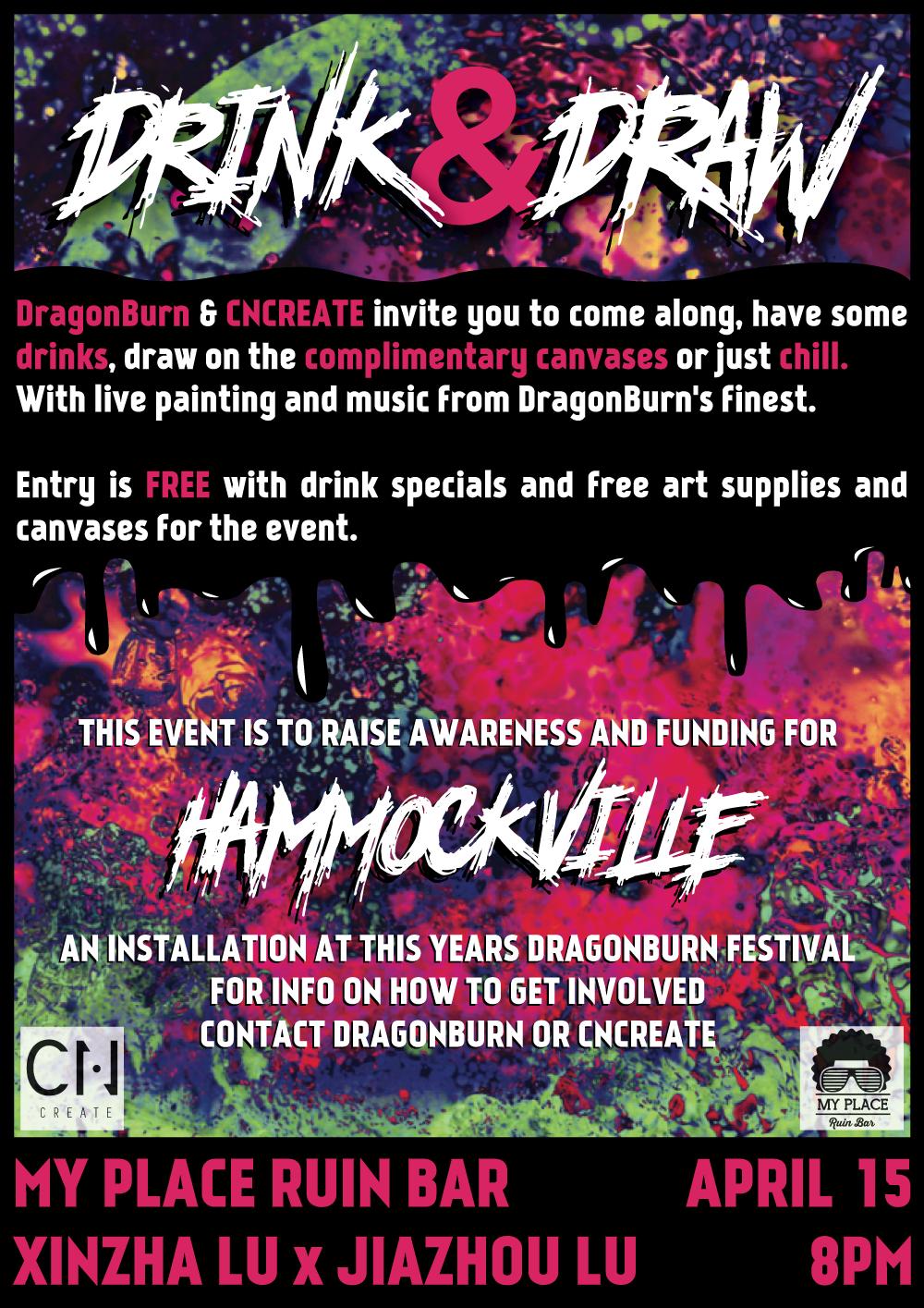 Drink & Draw: Hammockville Fundraiser