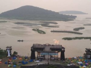 In 2014 Dragon Burn was held at a former movie set on the shores of Lake Tai